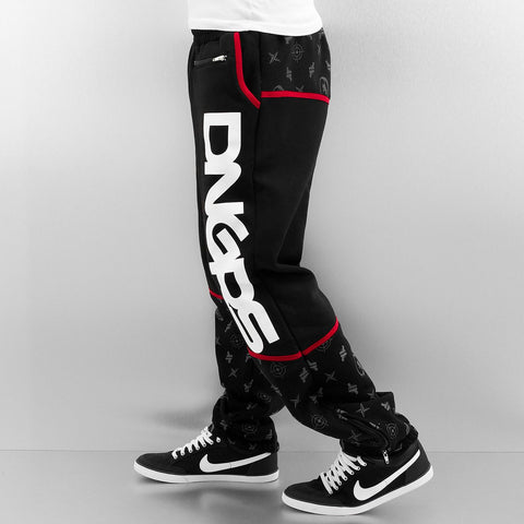 Image of Dangerous DNGRS / Sweat Pant Crosshair Baggyfit Sweat Pants in black-Universal Store London™