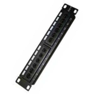 "12-port UTP Category 6 Patch Panel Monolyth 3002001 10""-Universal Store London™"
