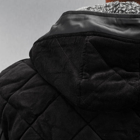 Just Rhyse / Winter Jacket Quilted in black-Universal Store London™