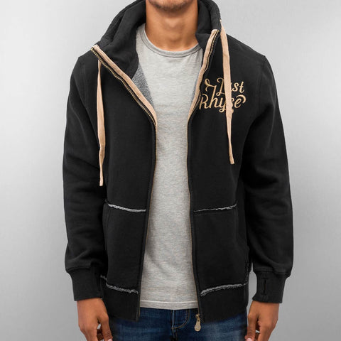 Image of Just Rhyse / Zip Hoodie Big in black-Universal Store London™