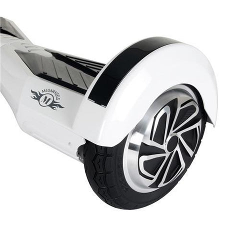 Megawheels TW02-1 8-Inch Hoverboard White + Black-Universal Store London™