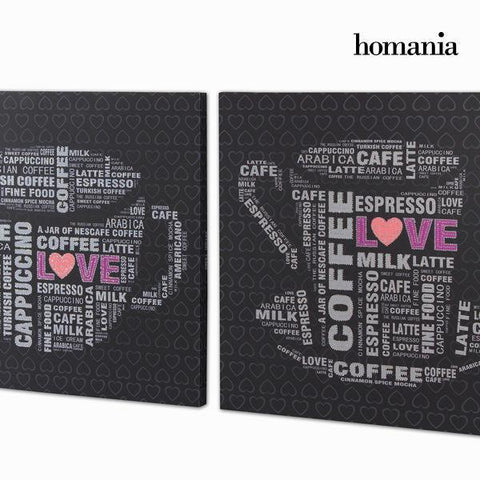 Image of 2 canvas set with strass by Homania-Universal Store London™