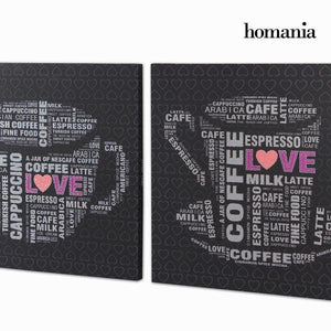 2 canvas set with strass by Homania-Universal Store London™