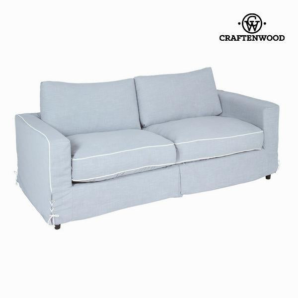 2-seat grey sofa by Craften Wood-Universal Store London™