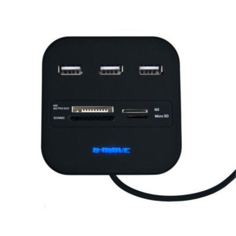 Image of 20 in 1 Card Reader B-Move BM-CR04 3 x USB-Universal Store London™