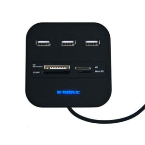 20 in 1 Card Reader B-Move BM-CR04 3 x USB-Universal Store London™