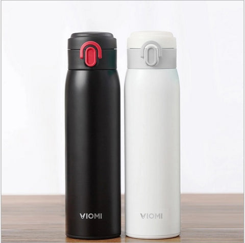 Xiaomi VIOMI Stainless Steel Travel Mug, 16 oz, 460 ml, Stainless Steel-Universal Store London™