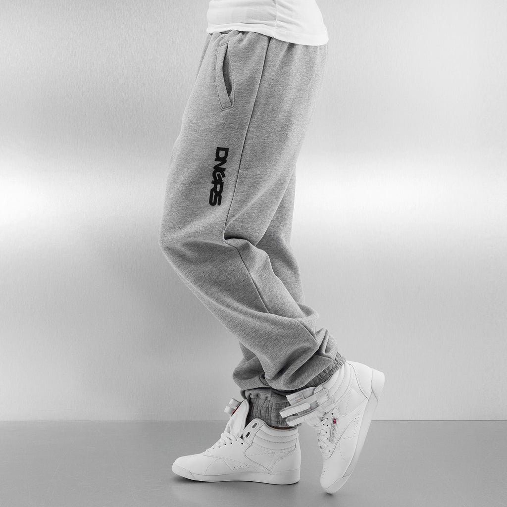 Dangerous DNGRS / Sweat Pant Soft Dream Leila Ladys Logo in grey-Universal Store London™