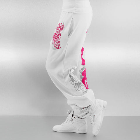 Dangerous DNGRS / Sweat Pant Pink in white