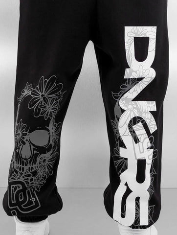 Dangerous DNGRS / Sweat Pant Flower in black-Universal Store London™