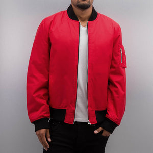 Dangerous DNGRS / Bomber jacket Classic in red-Universal Store London™