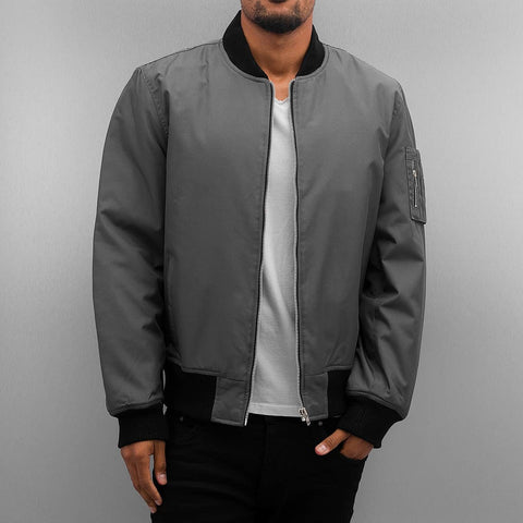 Dangerous DNGRS / Bomber jacket Classic in grey-Universal Store London™