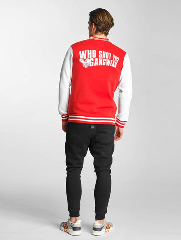 Who Shot Ya? / College Jacket Alpha in red-Universal Store London™