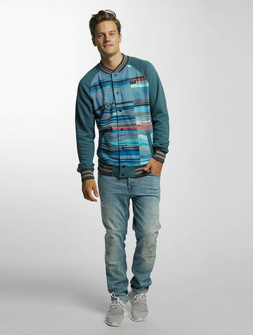 Just Rhyse / College Jacket Bell Springs in turquoise-Universal Store London™