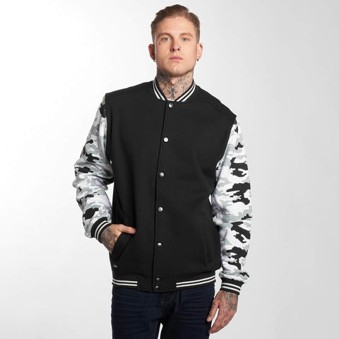 Thug Life / College Jacket Ragthug in black-Universal Store London™
