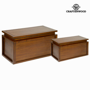 Set of 2 wooden chests - Let's Deco Collection by Craftenwood-Universal Store London™