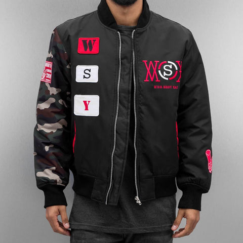 Who Shot Ya? / Bomber jacket icekubicekube in black