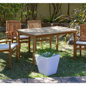 Table set with 4 chairs Teak (150 x 90 x 75 cm) by Craftenwood-Universal Store London™
