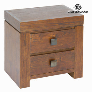 Nightstand Mindi wood (55 x 38 x 54 cm) - Nogal Collection by Craftenwood-Universal Store London™