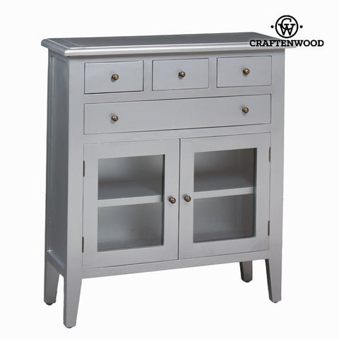 Cabinet with 4 silver drawers - Serious Line Collection by Craftenwood-Universal Store London™