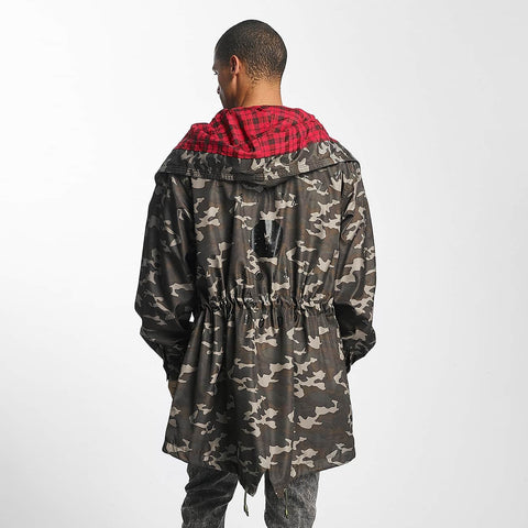 Cavallo de Ferro / Lightweight Jacket Mono in camouflage-Universal Store London™