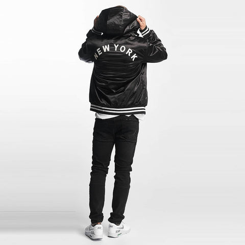Thug Life / Bomber jacket New York in black-Universal Store London™