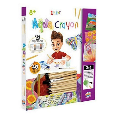 Image of Set of colouring and watercolour pencils Buki 22499 Aqua Crayon (OpenBox)-Universal Store London™