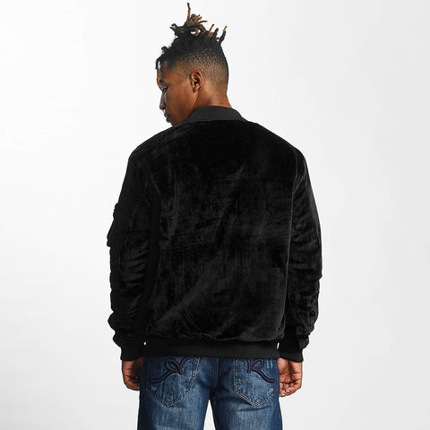 Rocawear / Bomber jacket Retro Velour in black