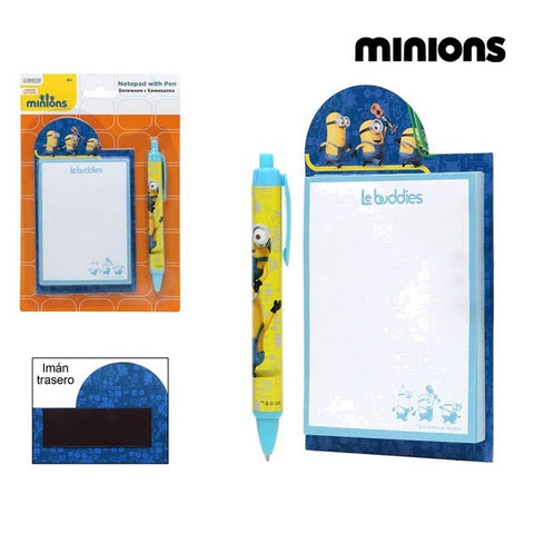 Pen + Notebook Minions 59483 Yellow Blue-Universal Store London™