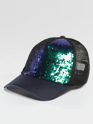Bangastic / Trucker Cap Glam in blue-Universal Store London™