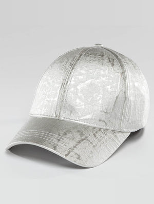 Bangastic / Snapback Cap Shiny in silver colored-Universal Store London™