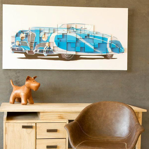 Image of 3d blue car painting by Homania-Universal Store London™