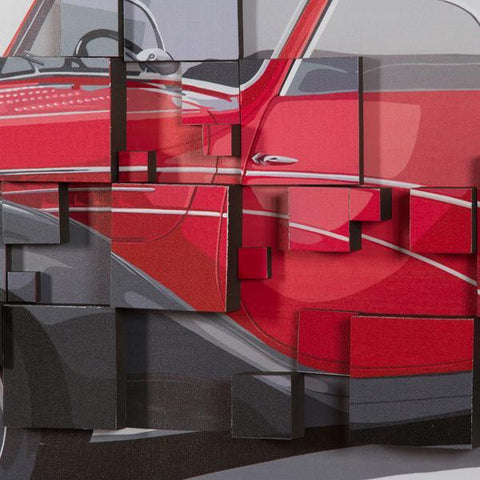 Image of 3d painting red car by Homania-Universal Store London™