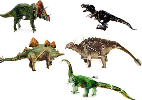 Image of 3D Puzzle Wind Up Dinosaur-Universal Store London™