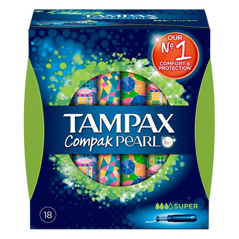 Super Tampons Pearl Compak Tampax (18 uds)-Universal Store London™