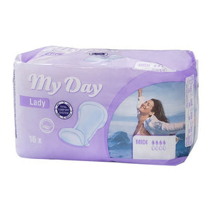 Incontinence Sanitary Pad Midi My Day (10 uds)-Universal Store London™