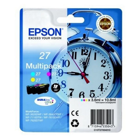 Original Ink Cartridge Epson C13T27054010 Yellow Cyan Magenta-Universal Store London™