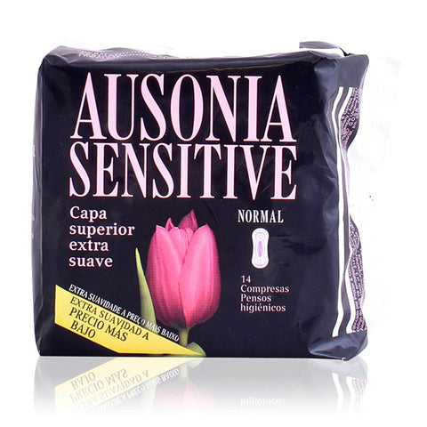 Normal sanitary pads without wings Sensitive Ausonia (14 uds)-Universal Store London™