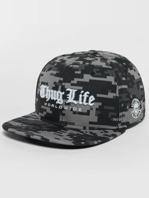 Thug Life / Snapback Cap Digital in camouflage-Universal Store London™