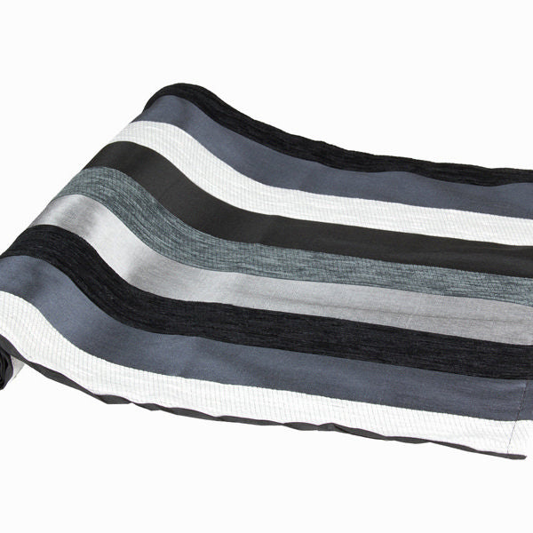 Motegi table runner black - Colored Lines Collection by Loom In Bloom-Universal Store London™