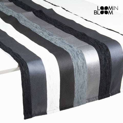 Image of Motegi table runner black - Colored Lines Collection by Loom In Bloom-Universal Store London™
