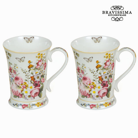 Set of 2 cups bloom white - Kitchen's Deco Collection by Bravissima Kitchen-Universal Store London™