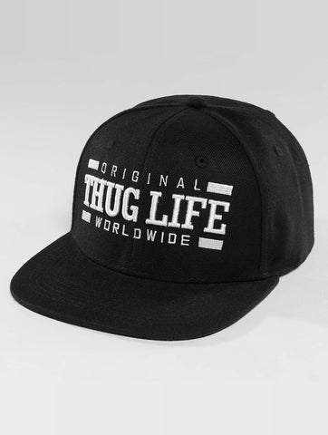 Thug Life / Snapback Cap Worldwide in black