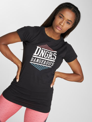 Image of Dangerous DNGRS / T-Shirt Tackle in black-Universal Store London™