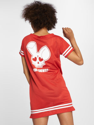 Who Shot Ya? / Dress Who Knows in red-Universal Store London™