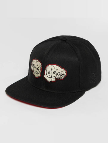 Image of Dangerous DNGRS / Snapback Cap Fists in black-Universal Store London™