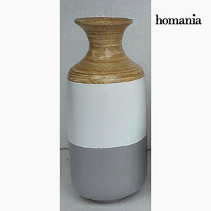 Gray and white bamboo vase by Homania-Universal Store London™