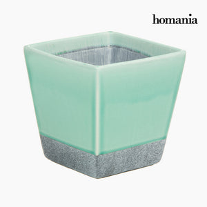 Turquoise ceramic pot by Homania-Universal Store London™