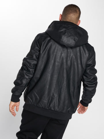 Thug Life / Leather Jacket Divers in black-Universal Store London™
