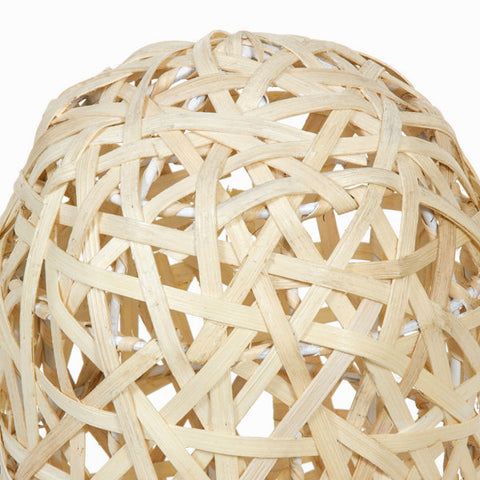 Lamp Metal Wicker Natural (21 x 21 x 60 cm) by Shine Inline-Universal Store London™